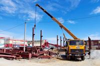 В «Башмеди» началось строительство нового склада для хранения горного оборудования
